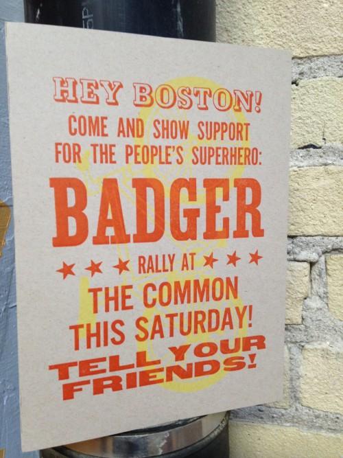Badger handbill