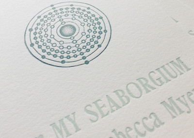 Seaborgium broadside detail