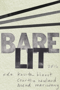 Bare Lit Anthology edited by Kavita Bhanot, Courttia Newland, and Mend Mariwany